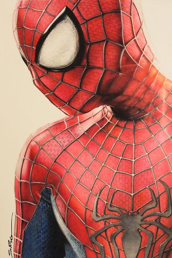 600x900 This Colored Pencil Sketch Of Spider Man Is So Good, It'Ll Mess