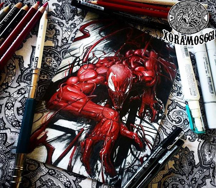 710x620 Drawing Spiderman By Ruben Ramos