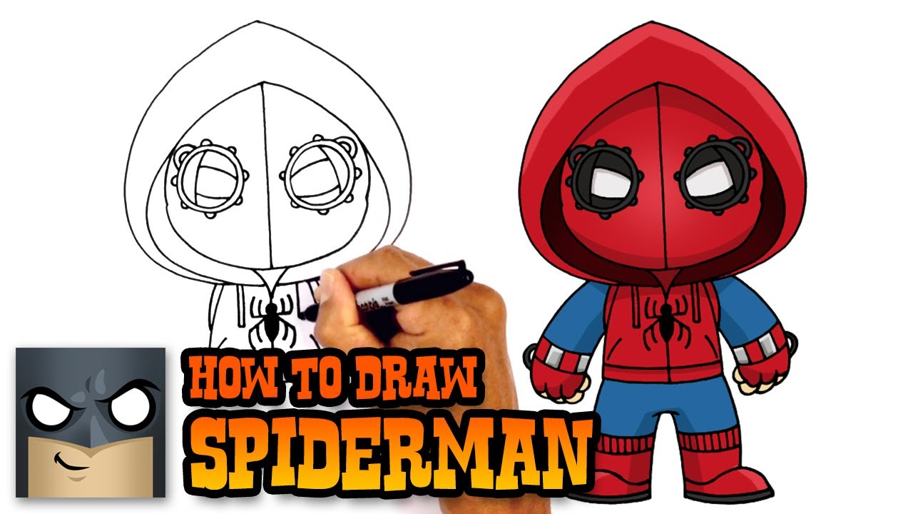 1280x720 How To Draw Spiderman Homecoming Drawing Tutorial