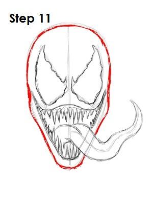 300x388 How To Draw Venom (Spider Man)
