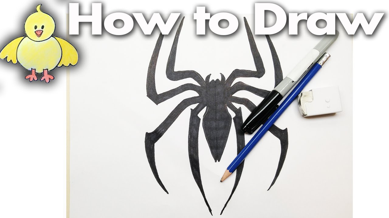 1280x720 How To Draw The Spiderman Logo
