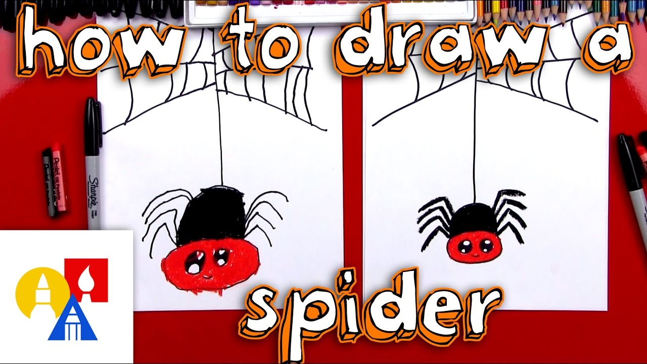 1280x720 How To Draw A Cartoon Spider And Spider Web