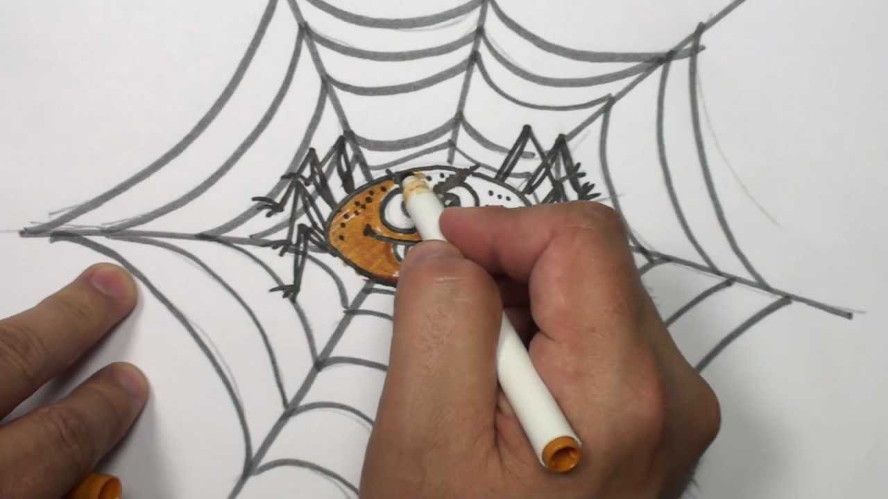 1280x720 How To Draw A Cartoon Spider Video
