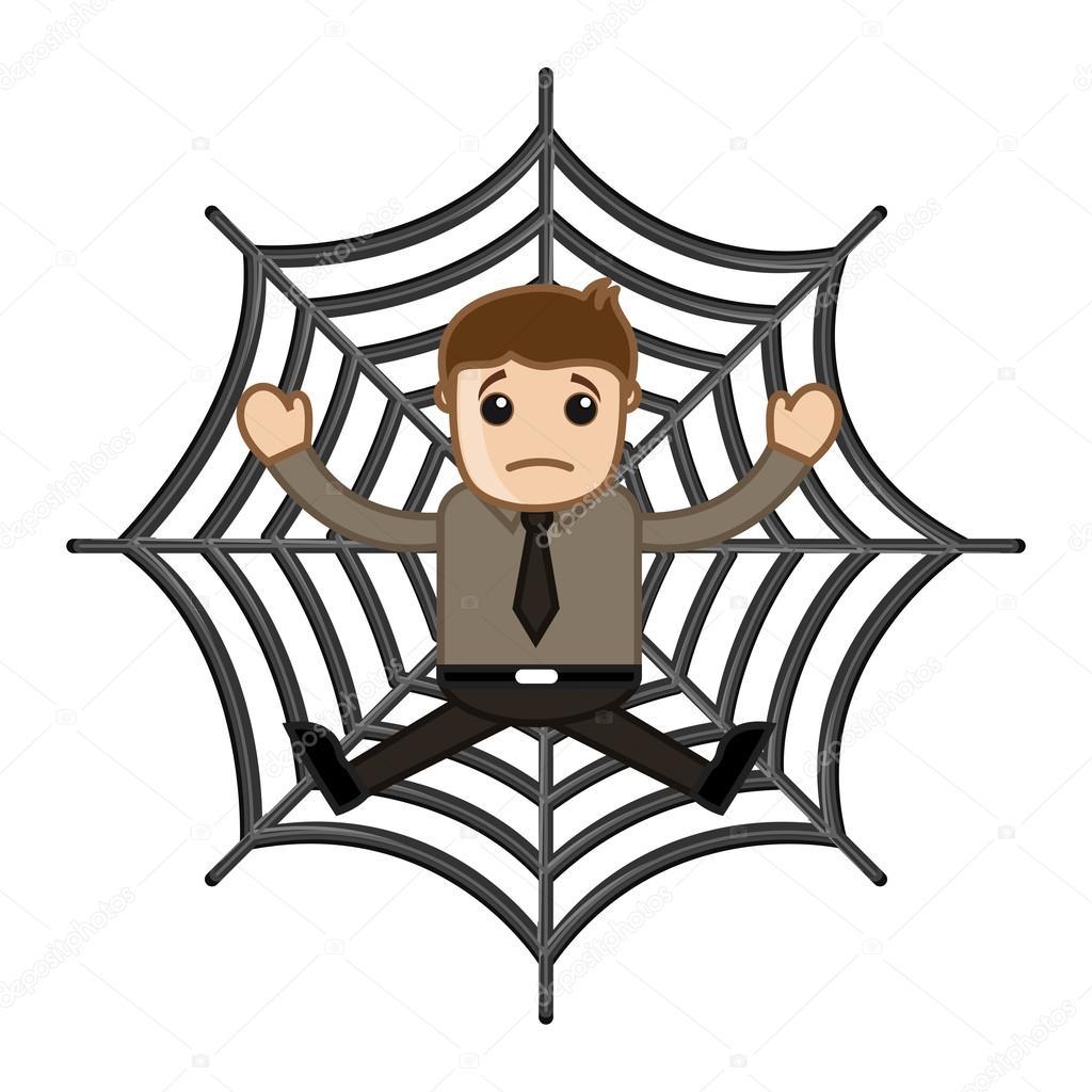 1024x1024 Man Stuck In Spider Web