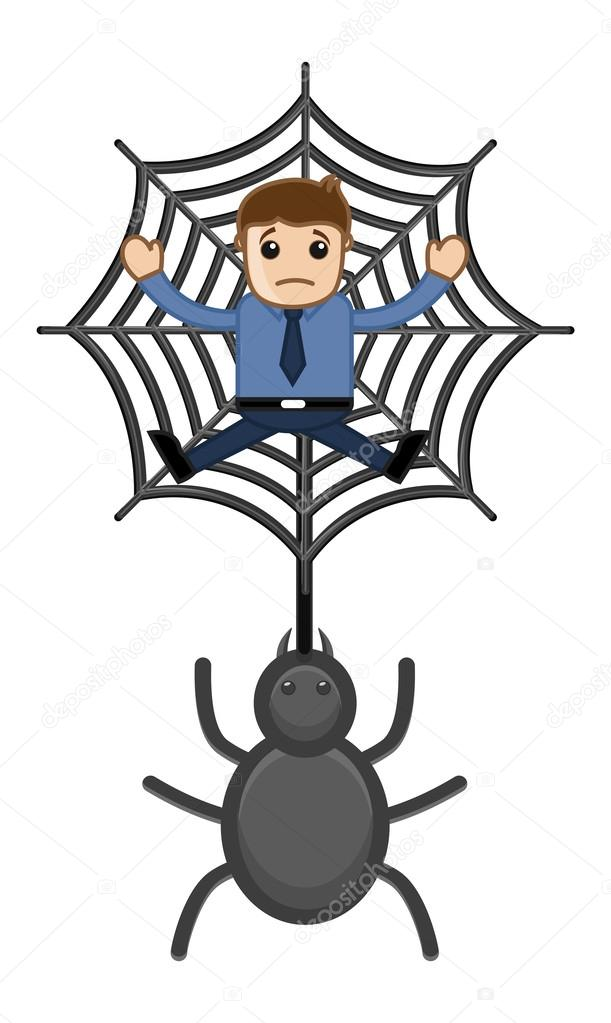 611x1023 Trapped In Spider Web