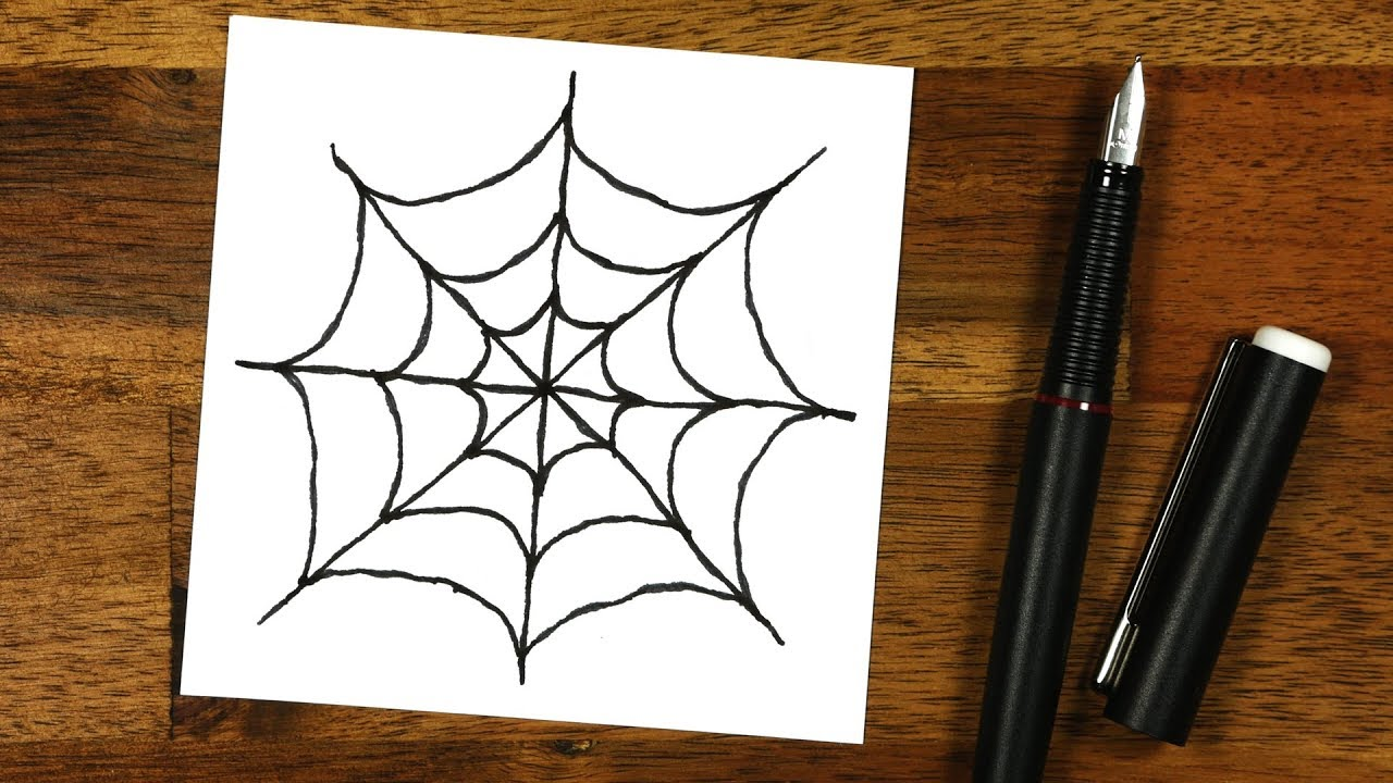 1280x720 Diy How To Draw A Spider Web