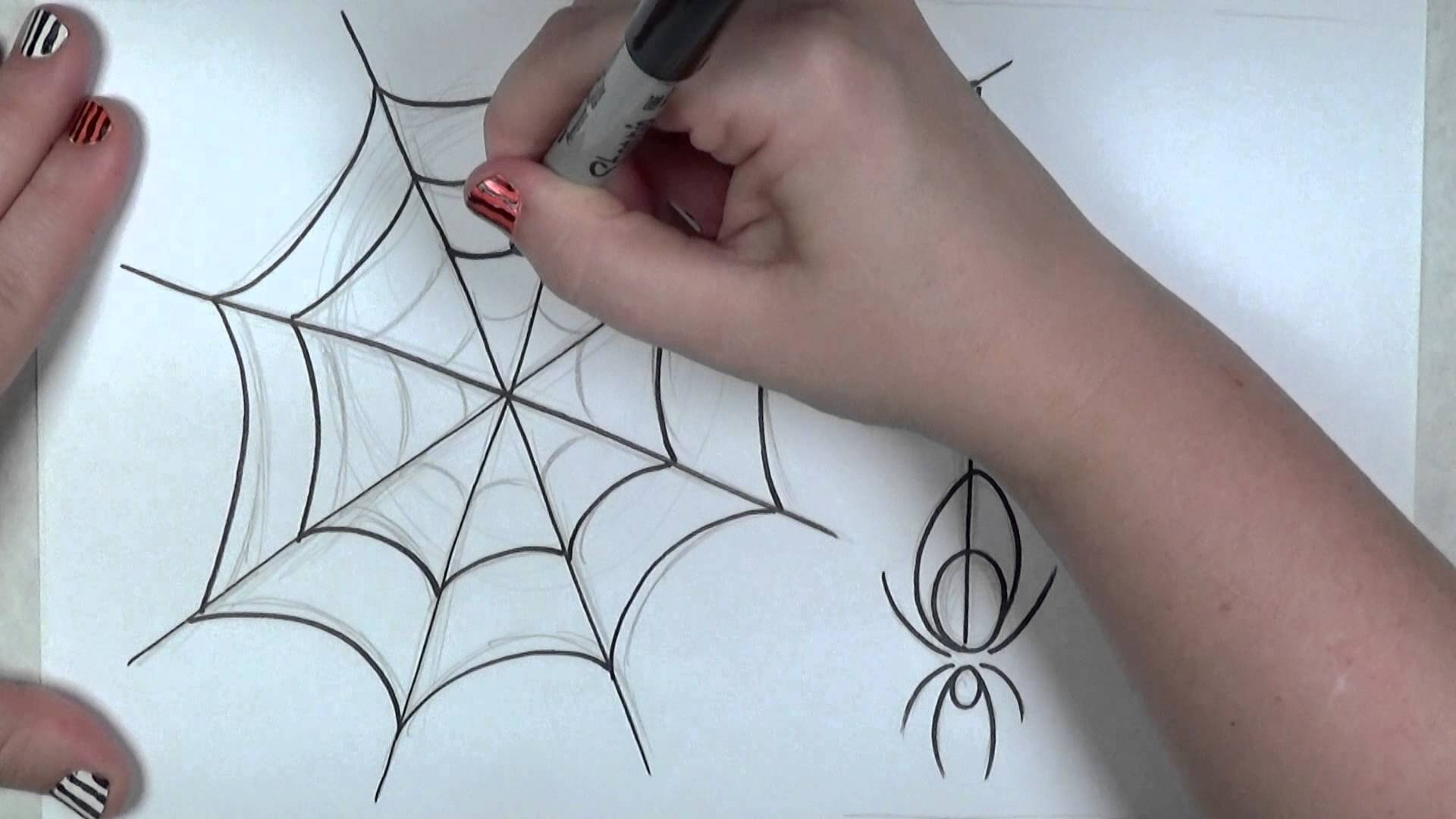 1920x1080 Learn How To Draw An Easy Spider And Web