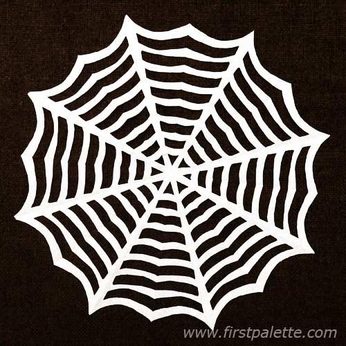 500x500 Paper Spider Web Craft Kids' Crafts