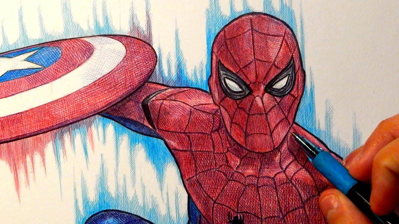 1280x720 Spider Man (Captain America Civil War) Drawing