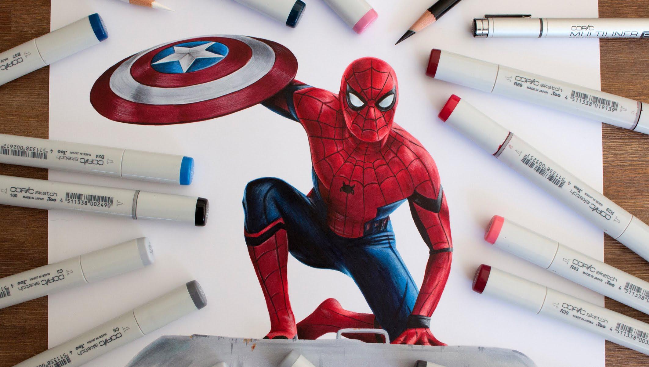 2126x1203 Spider Man Drawing