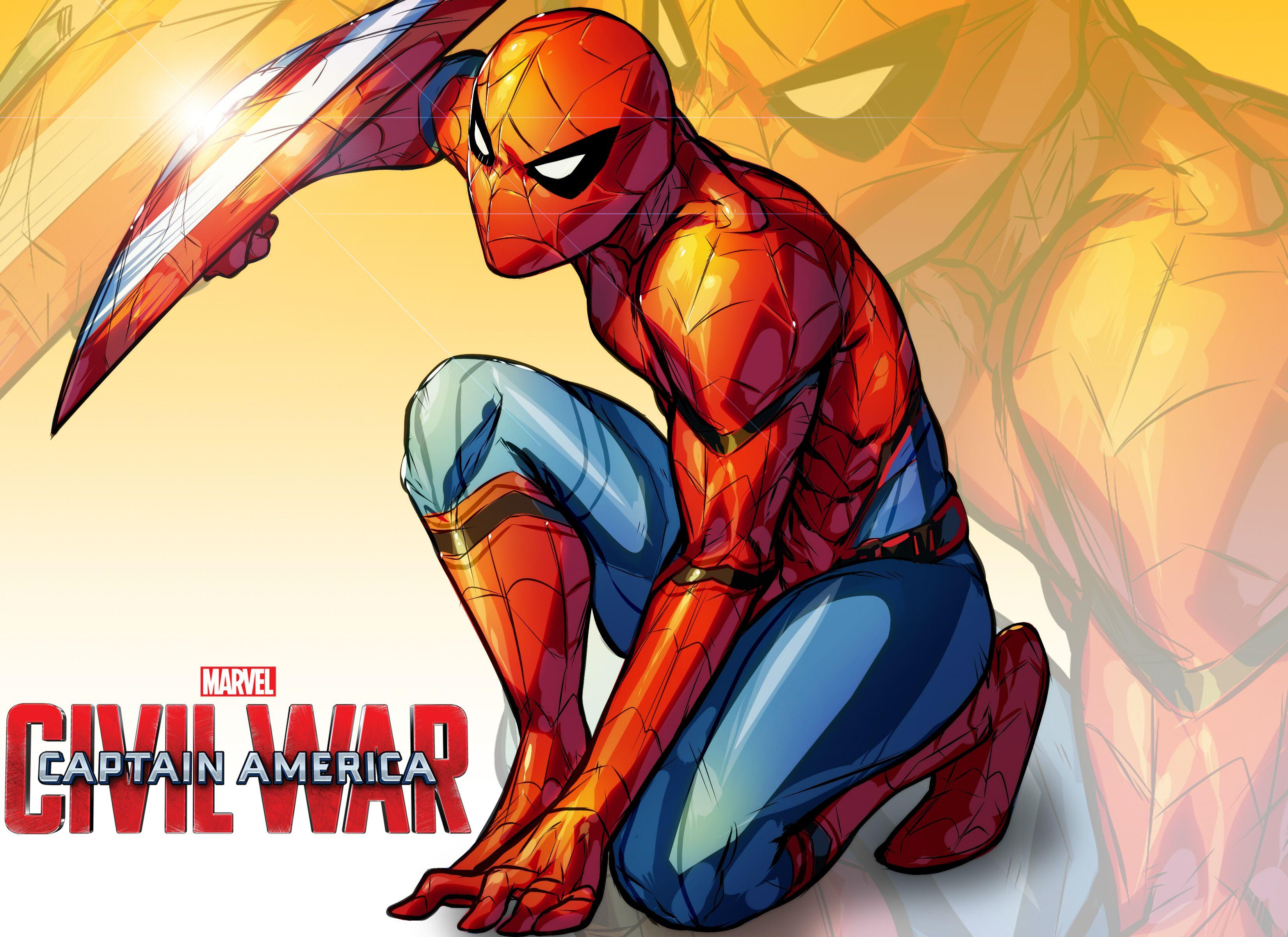 3300x2400 Spiderman Cpt America Civil War By