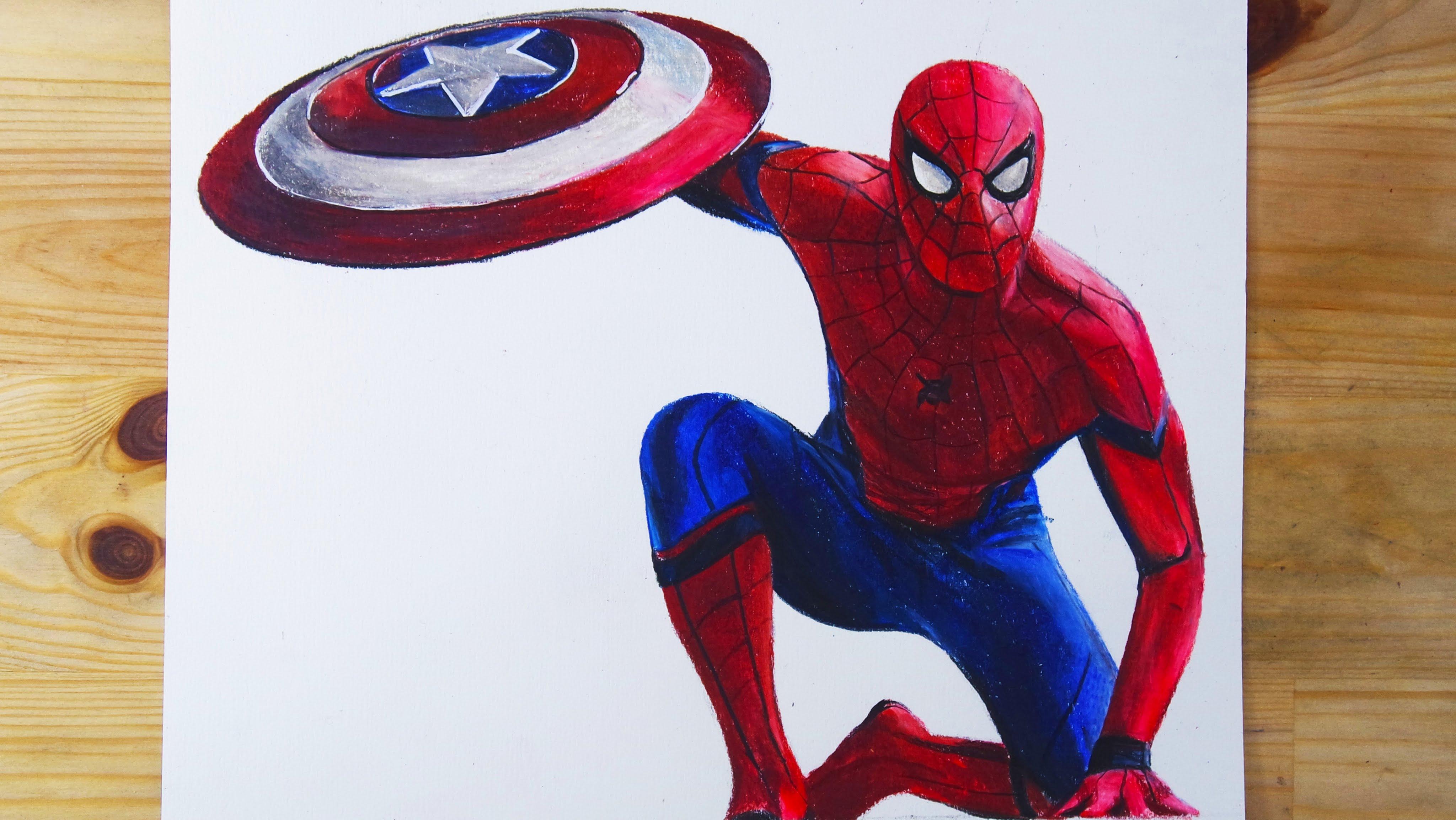 4096x2305 Drawing Spider Man Homecoming