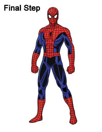 400x518 Spider Man Drawing Drawing Tutorials