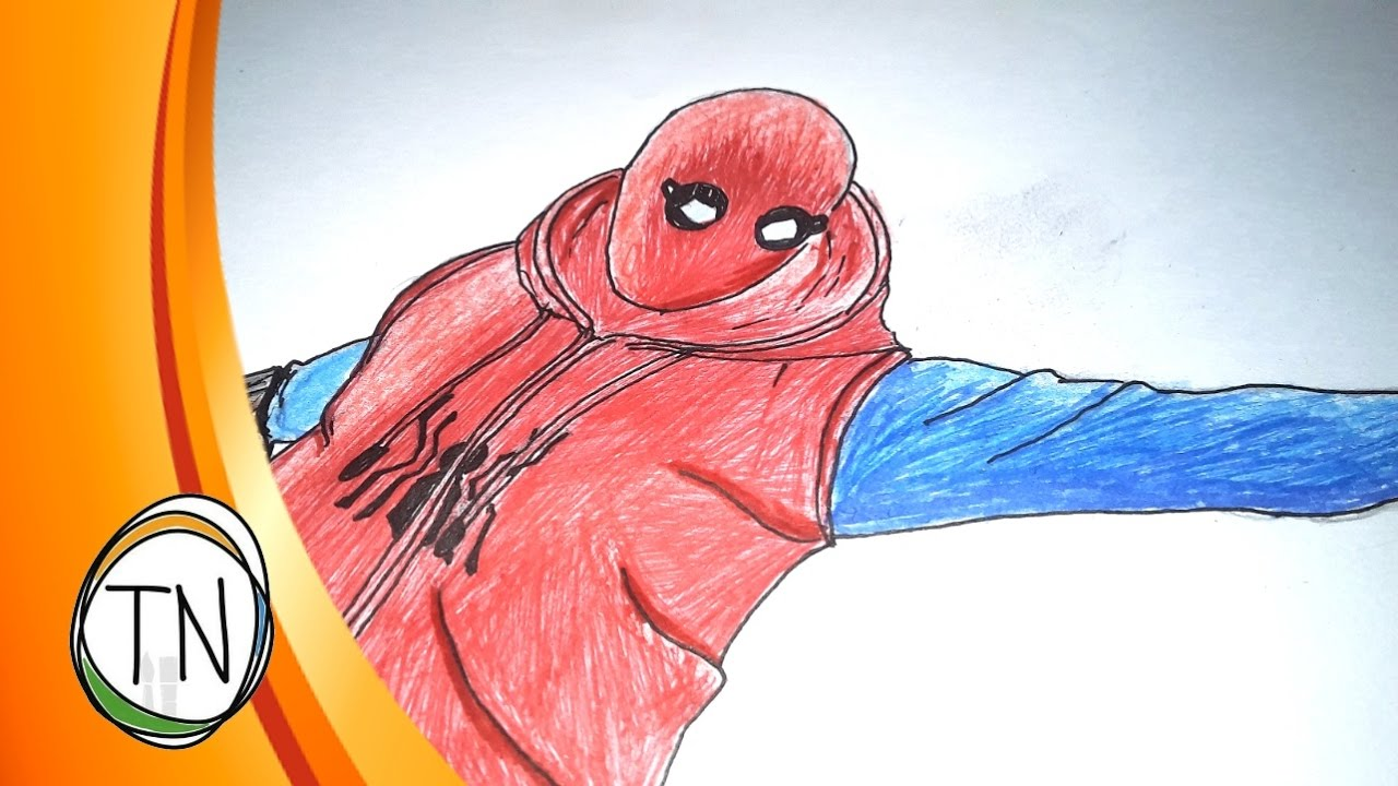 1280x720 Spider Man Homecoming Old School Costume Drawing