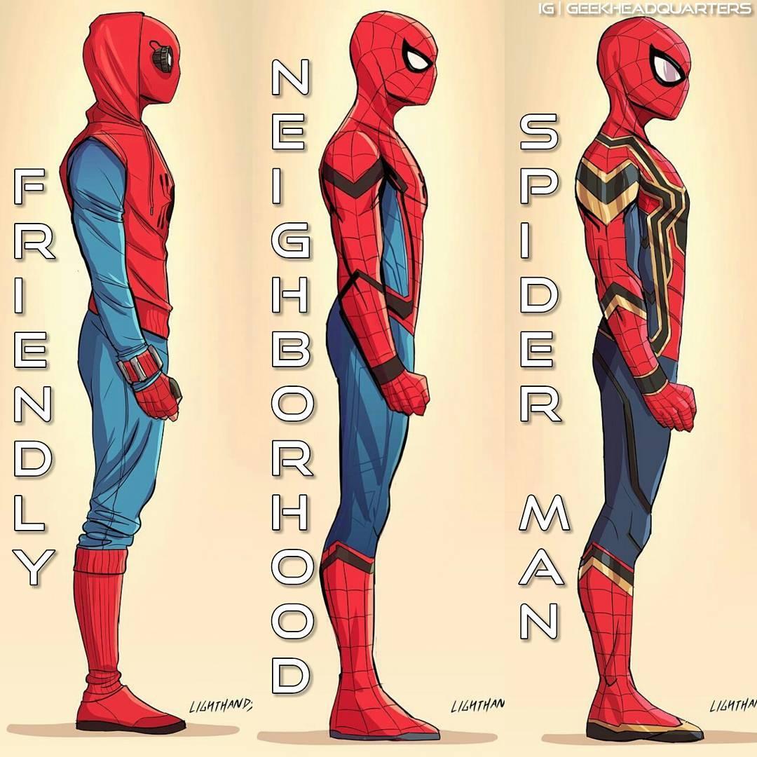 1080x1080 Spider Man Homecoming Costumes Marvelstudios