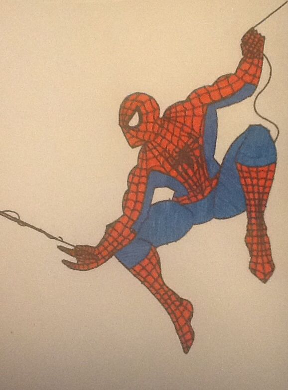 578x782 Spiderman Drawing With Markers Spiderman Spiderman