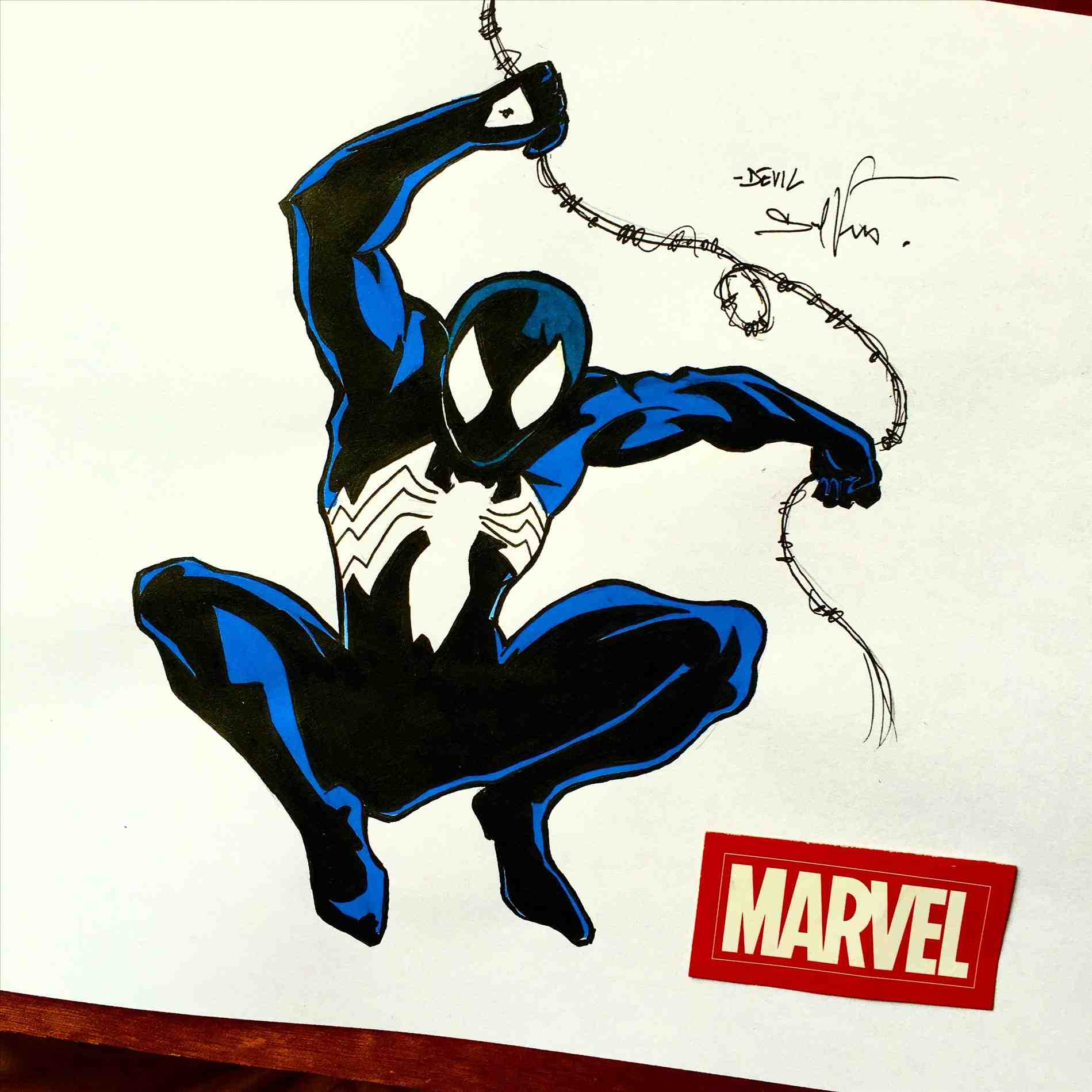how to draw black spiderman easy