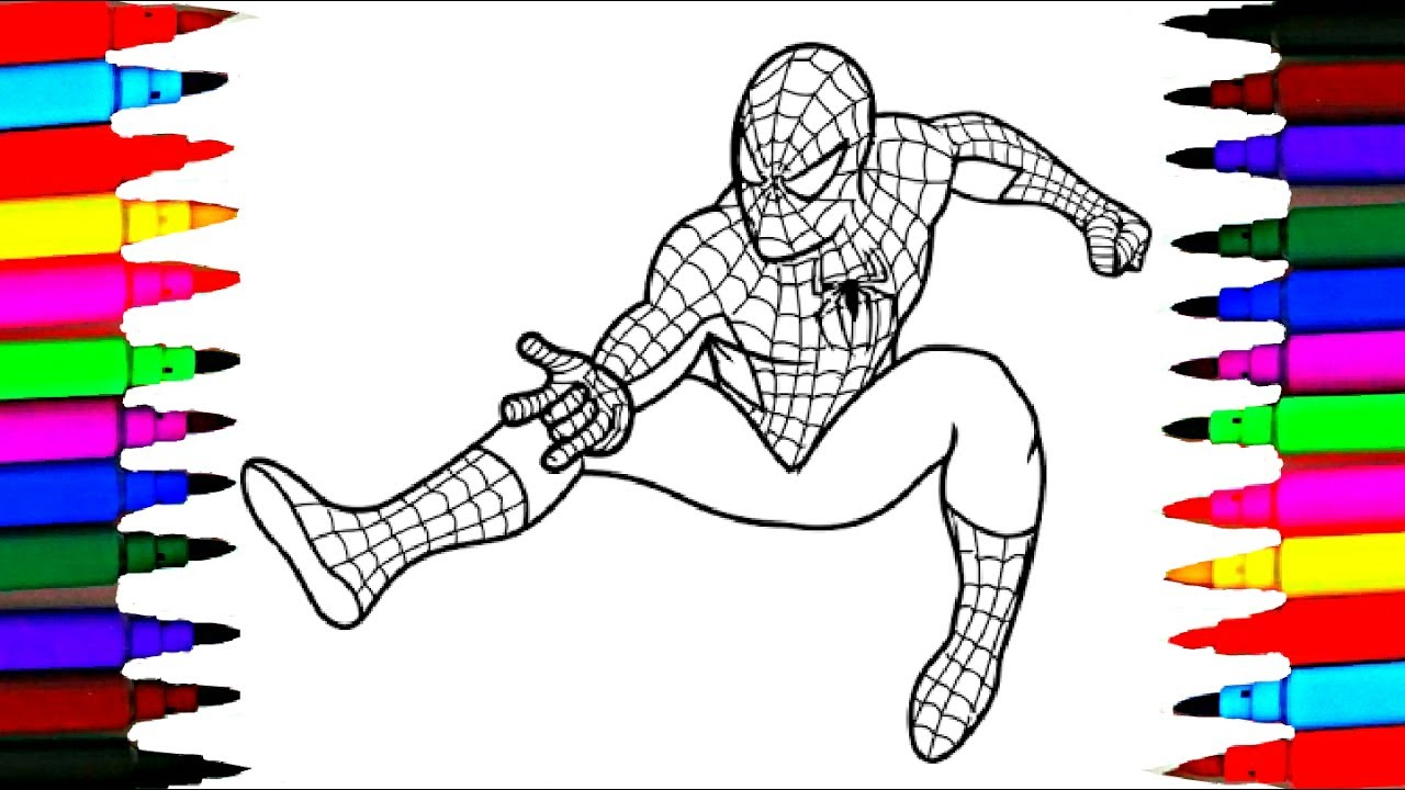 1280x720 Barbie And Spiderman Coloring Pages L How To Color