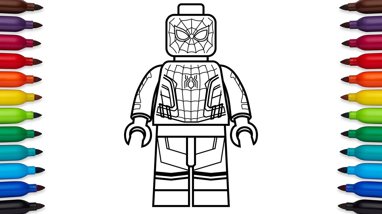 1280x720 How To Draw Lego Spider Man Homecoming