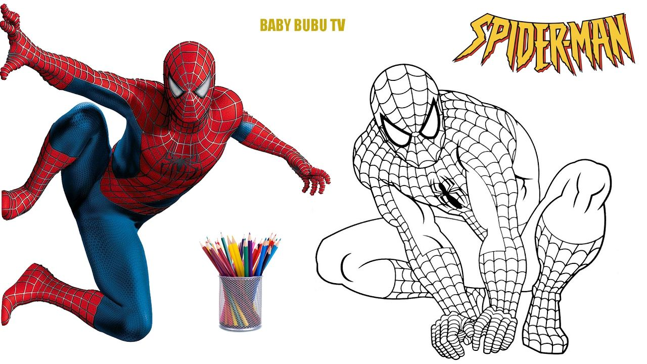 1280x720 Spiderman Coloring Book, Coloring Pages For Kids Spiderman