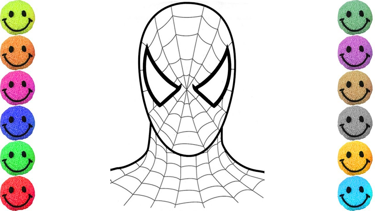 1280x720 Spiderman Coloring Pages