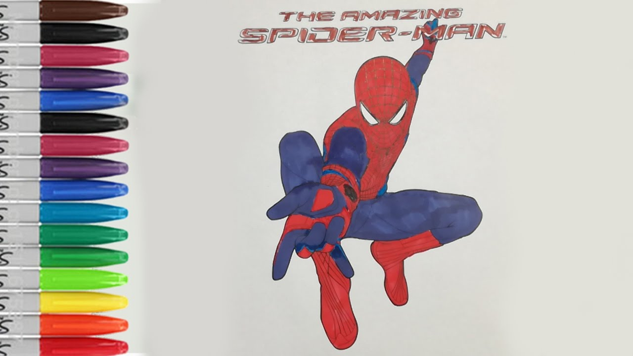 1280x720 The Amazing Spiderman Coloring Pages Let39s Show Fun