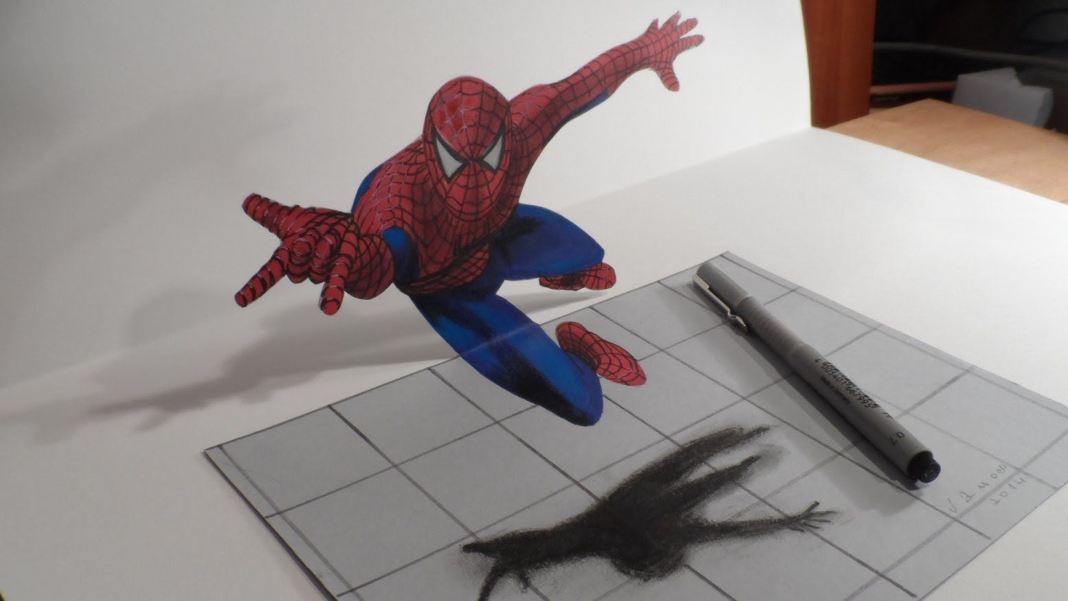 1554x874 Anamorphic Illusion, Drawing A Spiderman Art Videos For School