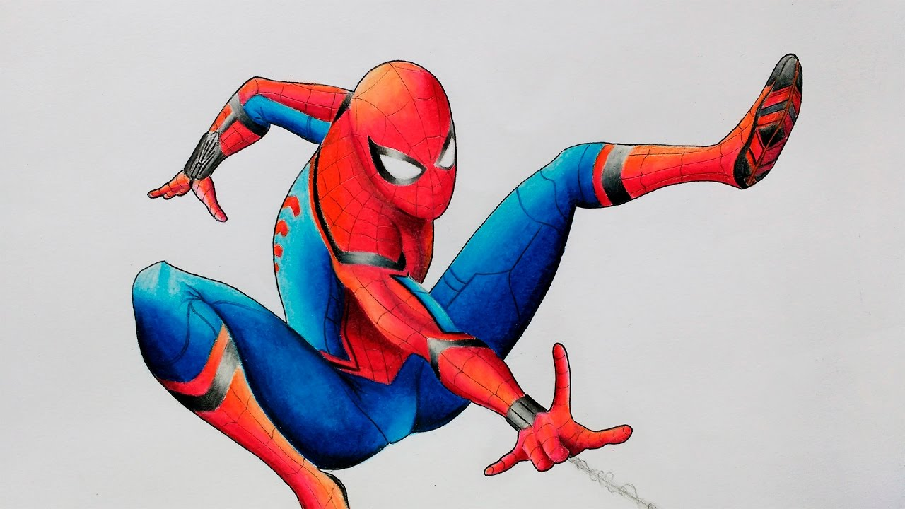 1280x720 How To Draw Spider Man Spider Man Homecoming Speed Drawing
