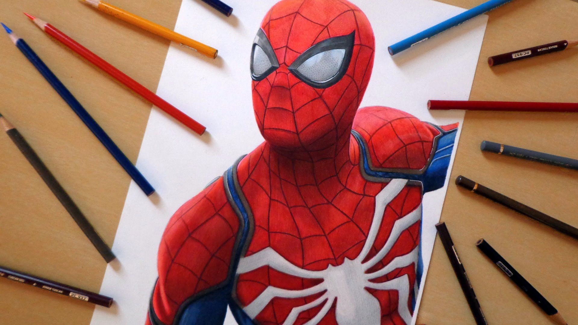 1919x1080 Speed Drawing Spider Man (Playstation 4 Game)