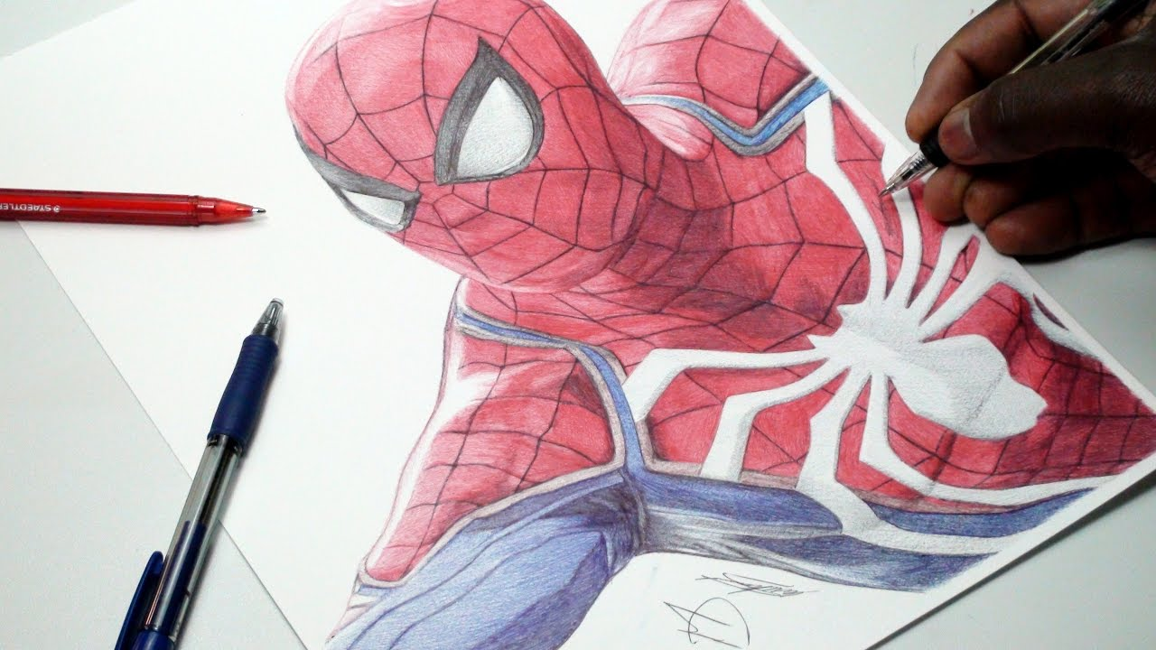 1280x720 Spider Man Drawing