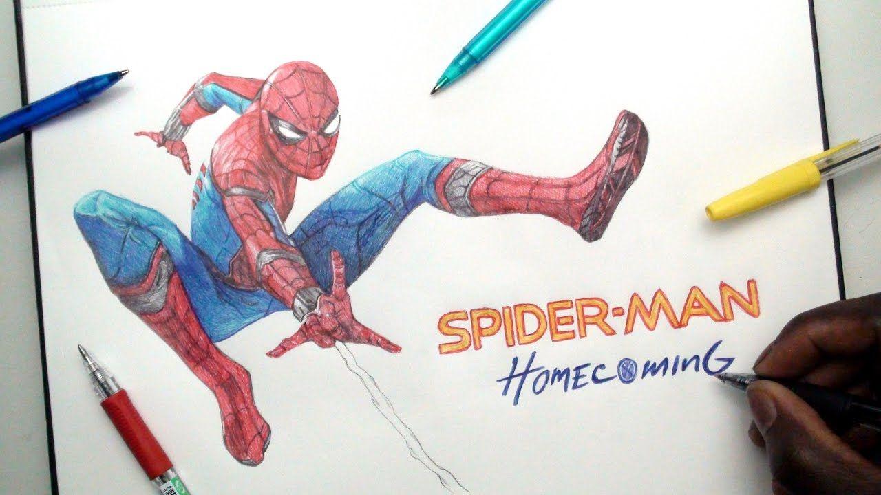 1280x720 Spider Man Pen Drawing
