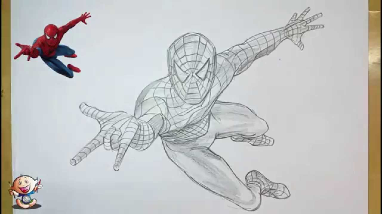 Scribble Drawing Easy : Spiderman easy drawing at getdrawings free for personal use