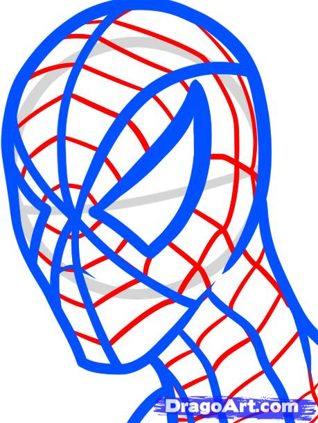 spiderman face drawing at getdrawings com free for personal use rh getdrawings com  spiderman face coloring page