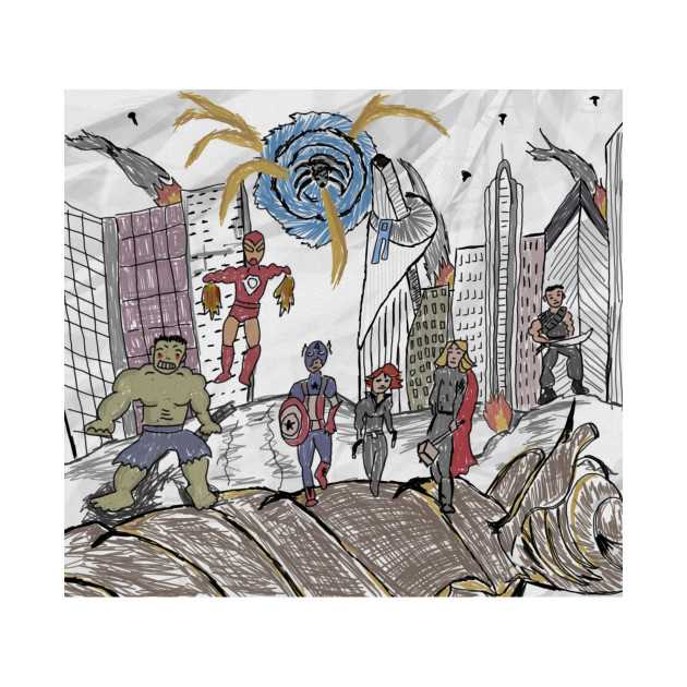 630x630 Battle Of New York Drawing From Spider Man Homecoming