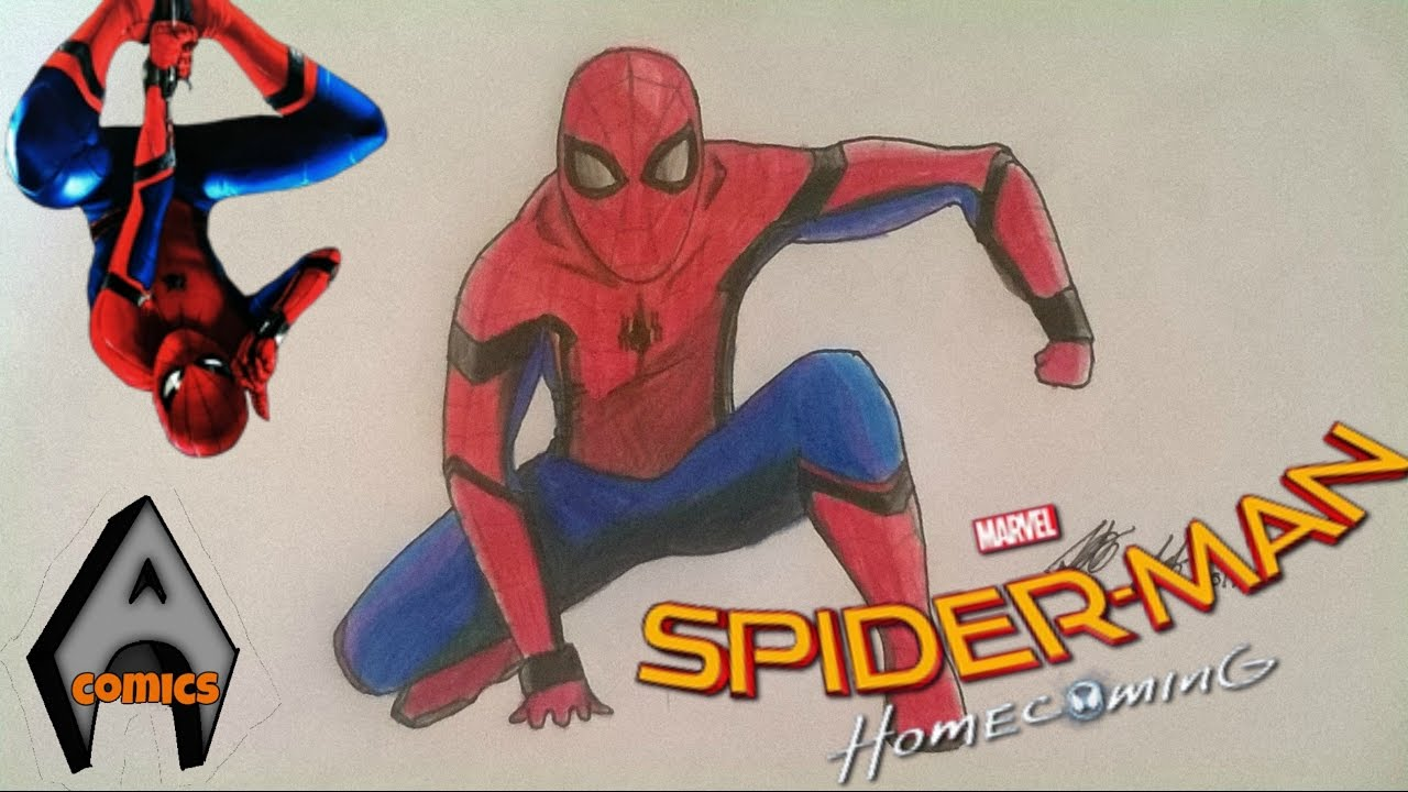 1280x720 Drawing Spider