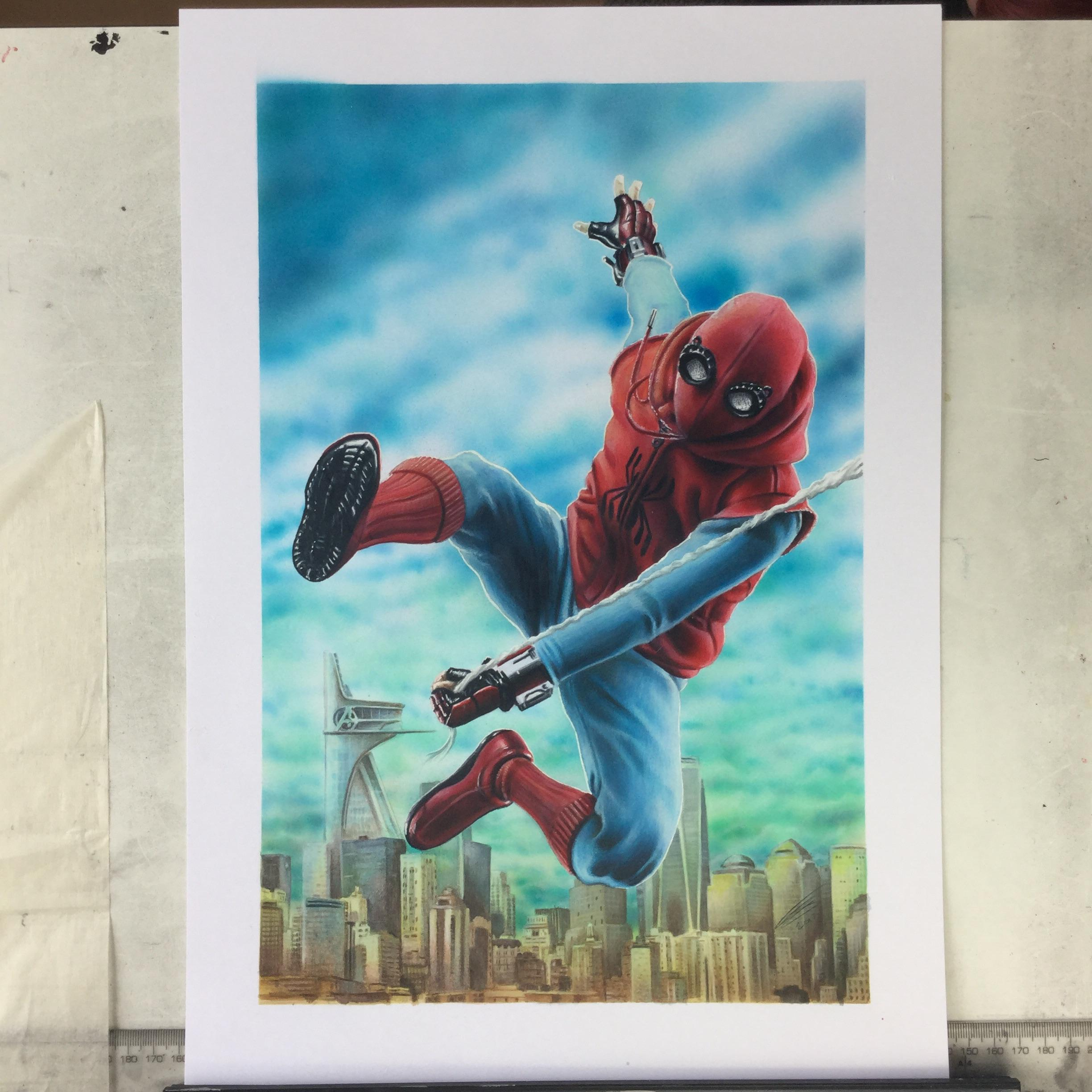 2448x2448 My Spider Man Homecoming Drawing With Copic Markers. Spiderman