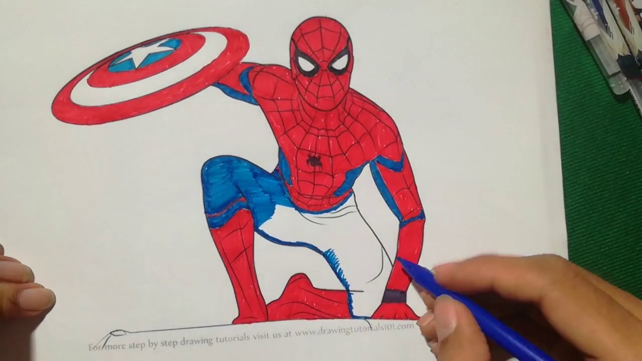 1280x720 Spiderman Homecoming Coloring Book Captain America Coloring Book