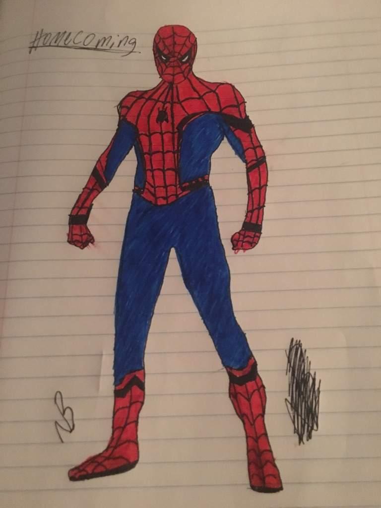 768x1024 Spiderman Homecoming Sketch Webslinger Amino Amino