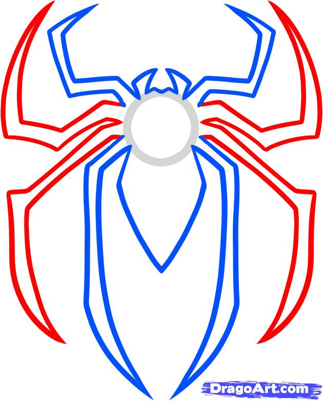 Spiderman Logo Drawing At Getdrawings Free For Personal Use