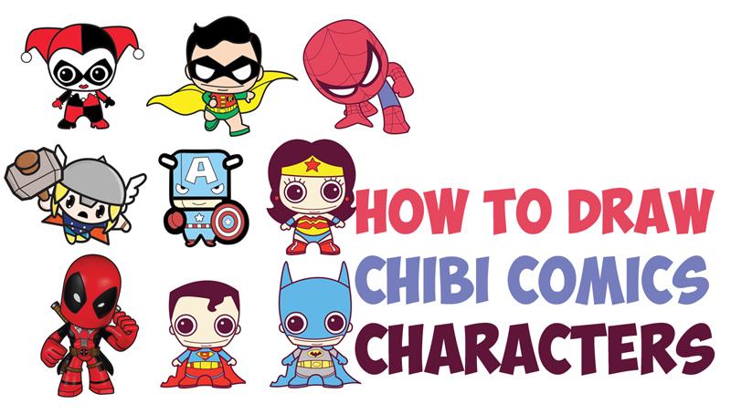 dessin de super heros chibi