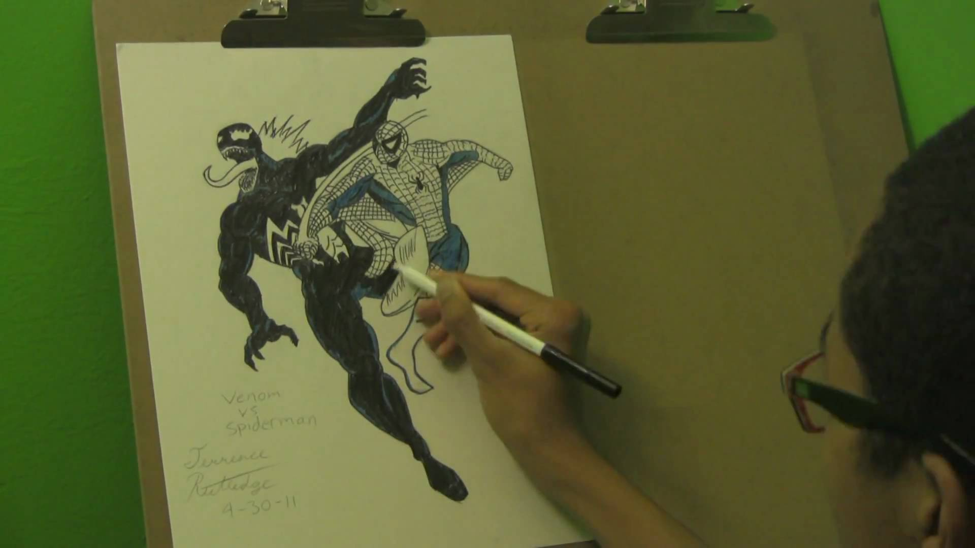 Spiderman Vs Venom Drawing At Getdrawings Com Free For Personal