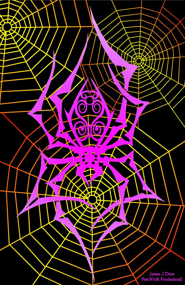 770x1189 Saatchi Art Spider's Web Drawing By James Dunn