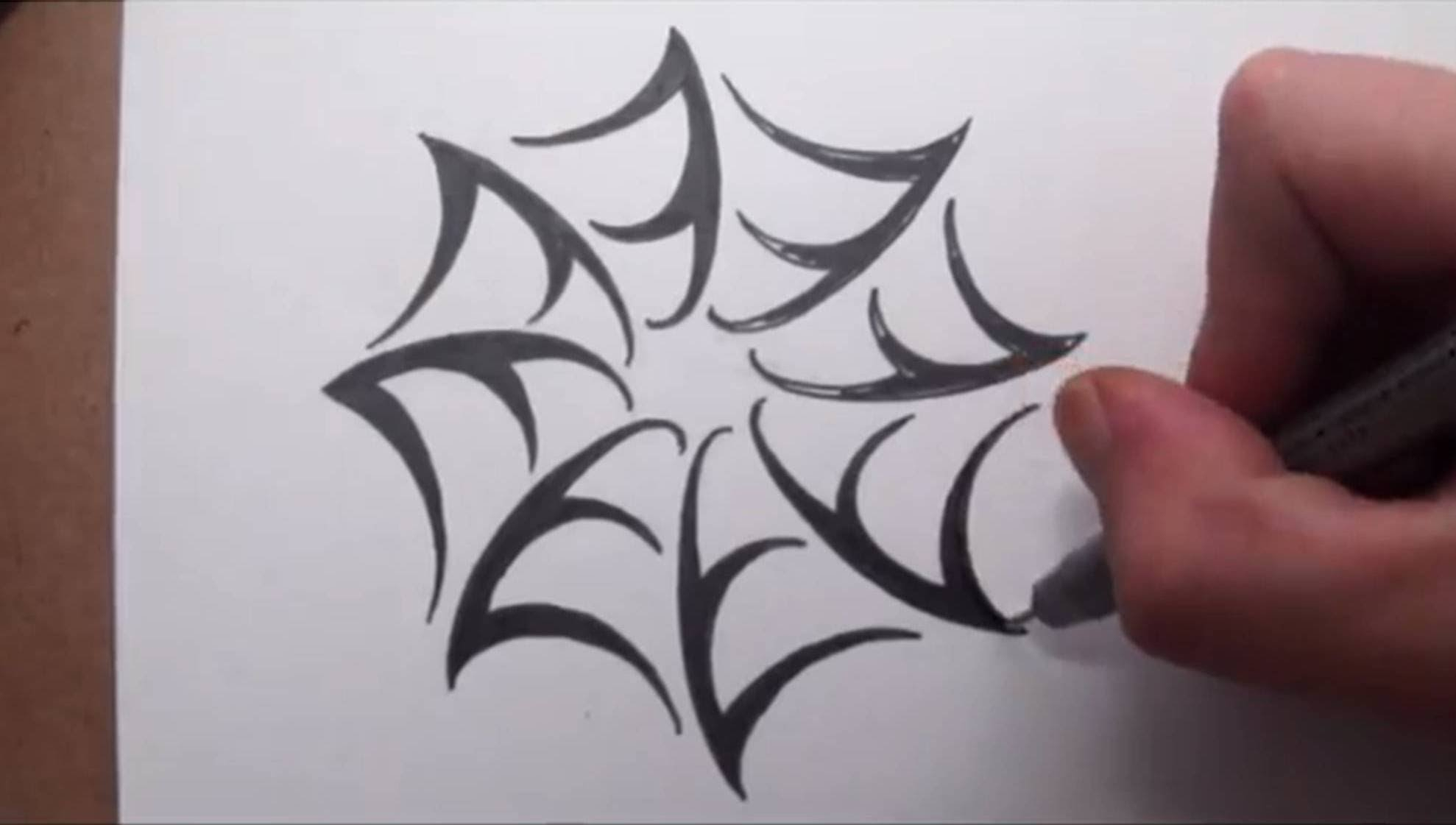 1978x1121 Simple Spider Web Drawing How To Draw A Spider Web