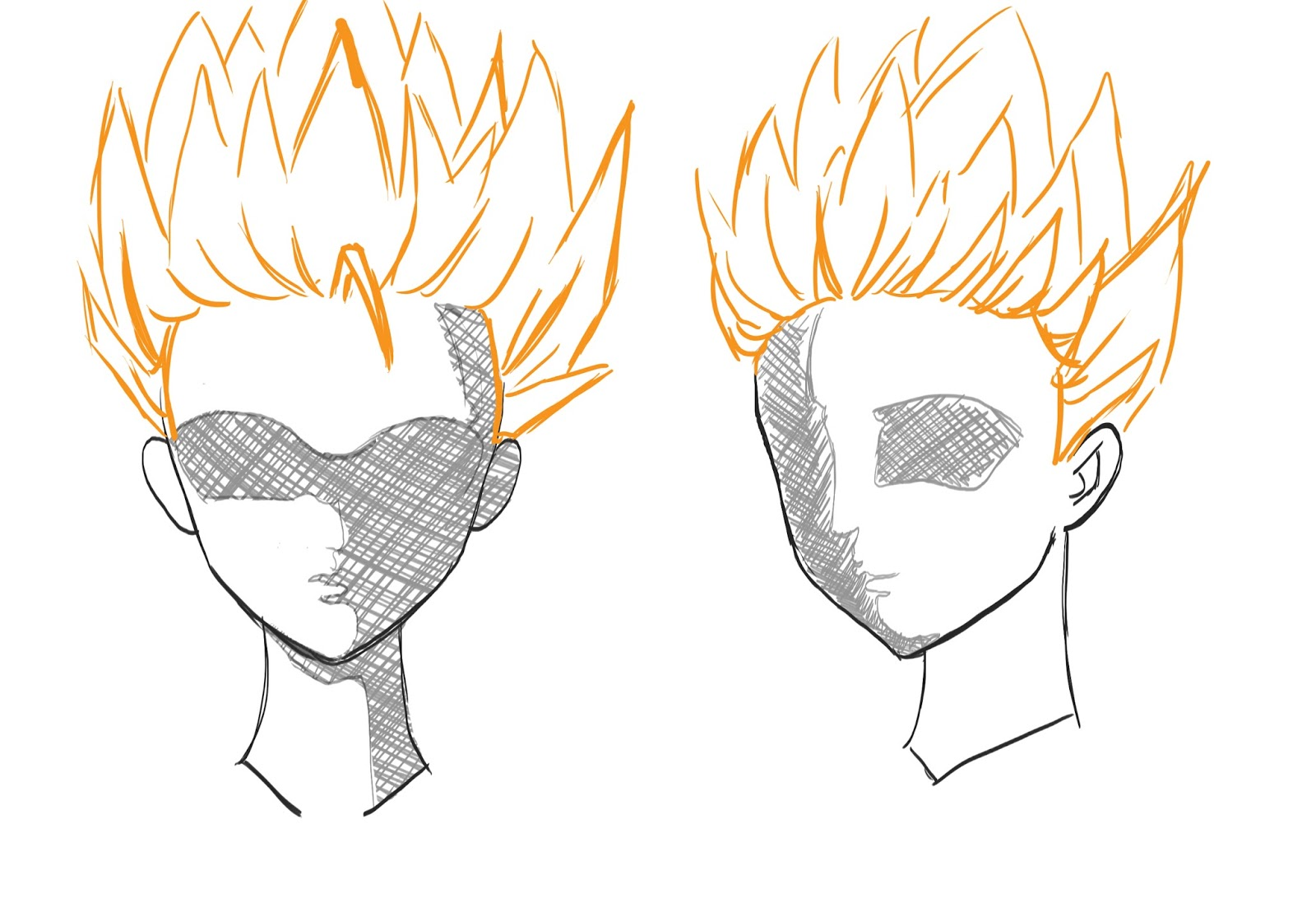 How To Draw Anime Spiky Hair