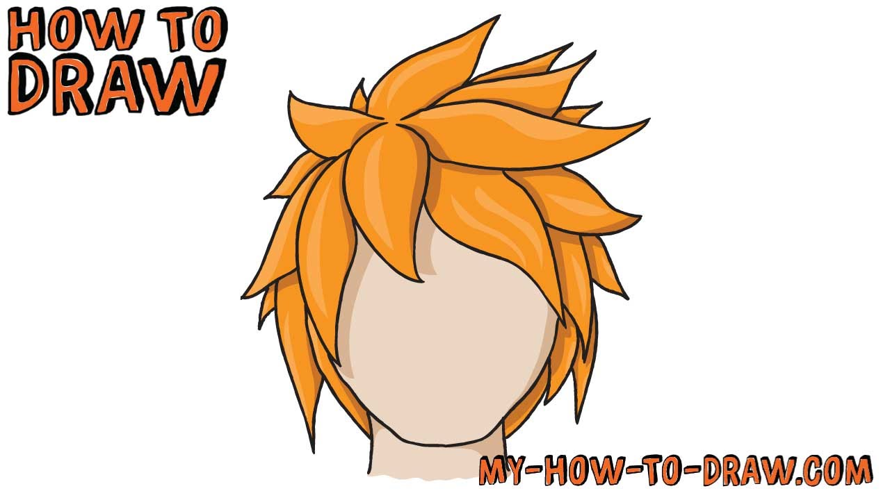 Spiky Hair Drawing At Getdrawings Com Free For Personal Use Spiky