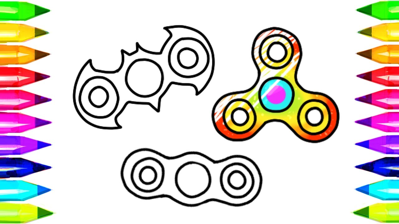 1280x720 Fidget Spinner Drawing And Coloring Pages, And How To Make Easy