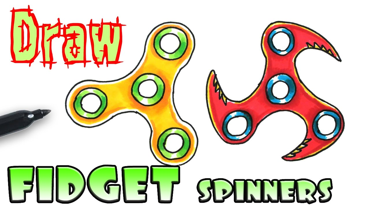 1280x720 How To Draw A Fidget Spinner