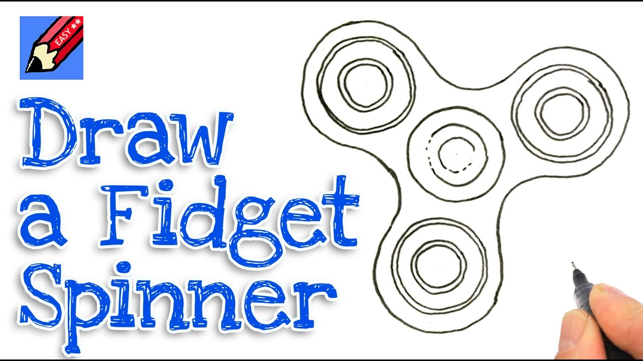 1280x720 How To Draw A Fidget Spinner Real Easy