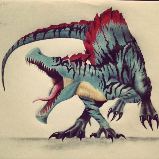 Spinosaurus Drawing at GetDrawings   Free download