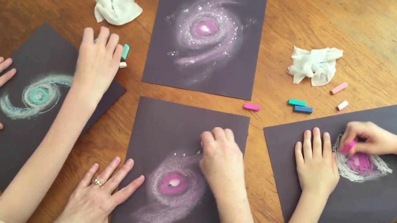 1280x720 How To Draw A Spiral Galaxy With Chalk Pastels